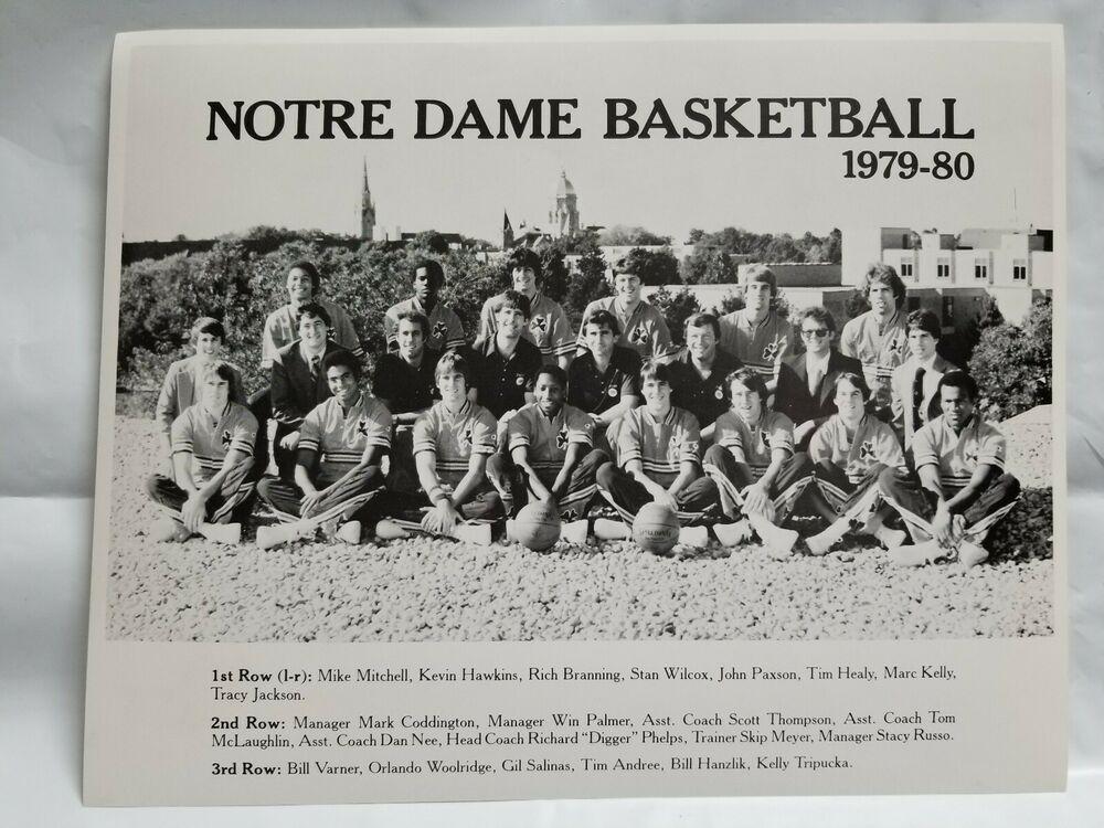 1979-80 Notre Dame Irish Basketball Team Photo Digger ...