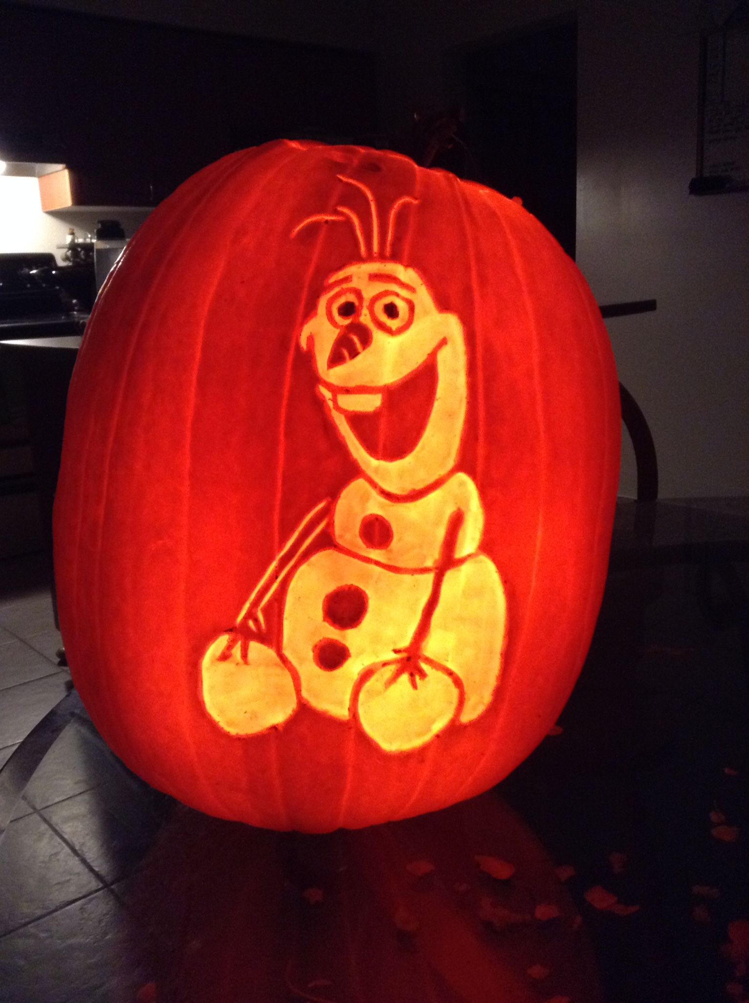 Pumpkin carving frozenus olaf fall holidays halloween
