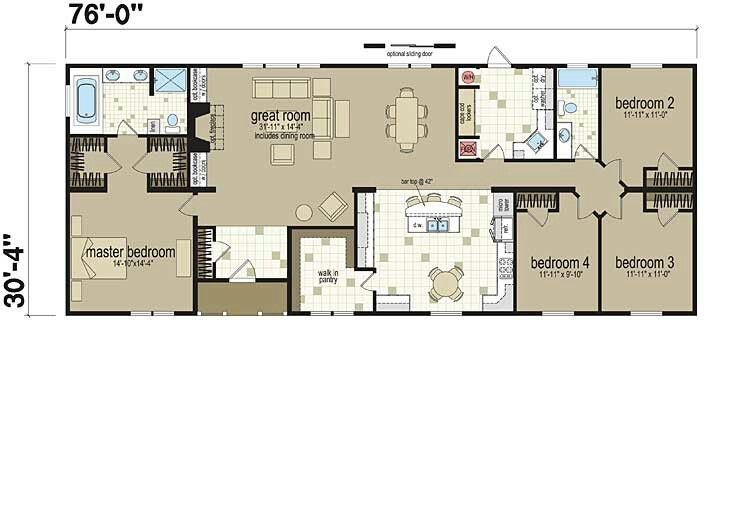 Floor plans modular homesmobile also house pinterest barndominium and rh