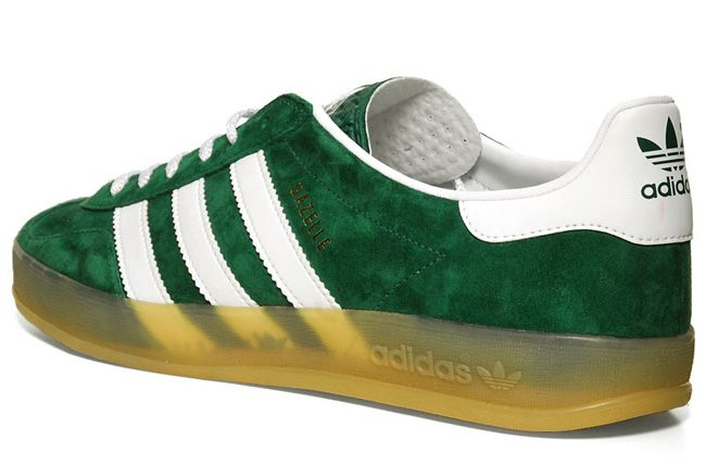 5c1504d11d14 Green Adidas Gazelle Indoor Gum Sole. These are a must!!