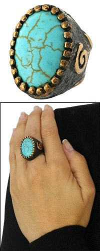 Truly Turquoise Bronze Ring at The Animal Rescue Site