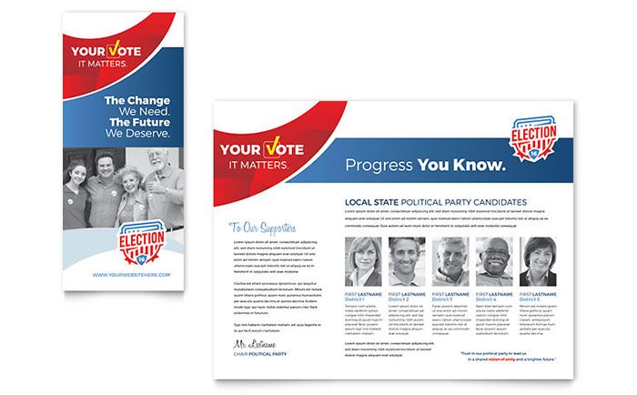 political brochure template free