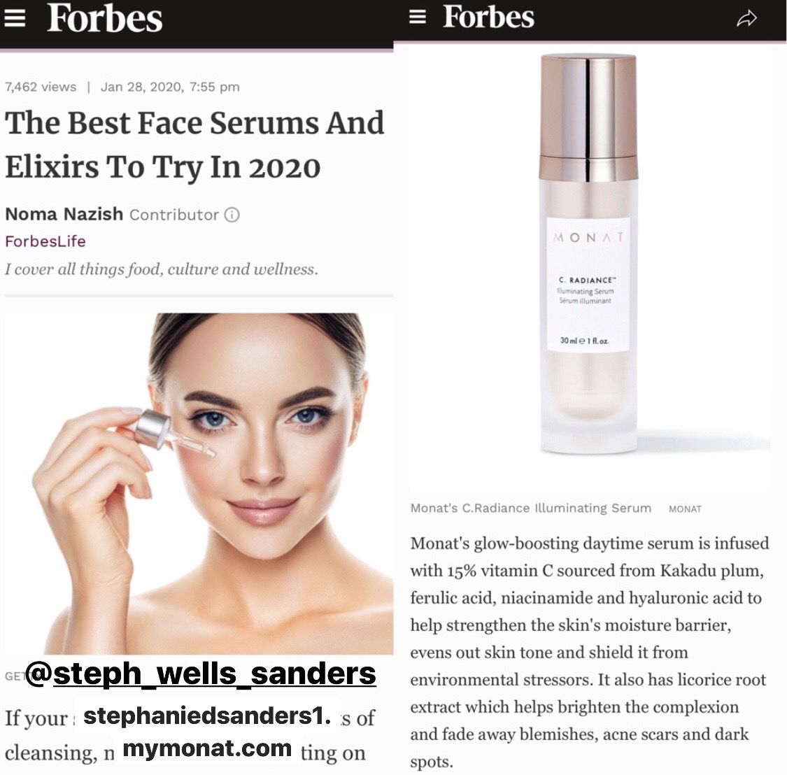 Monat Featured On Forbes In 2020 Best Face Serum Monat Hair Monat