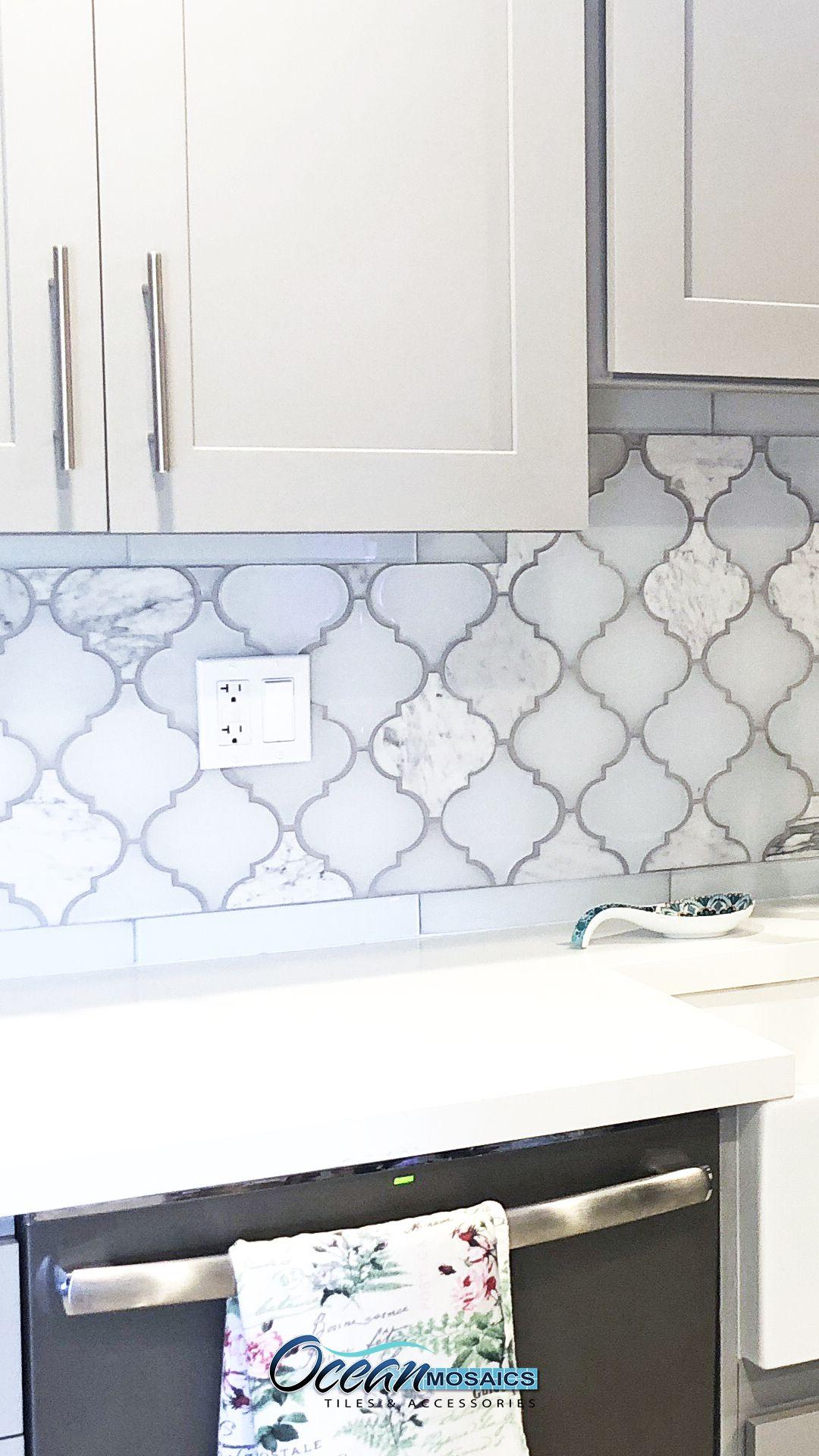 arabesque kitchen backsplash tile