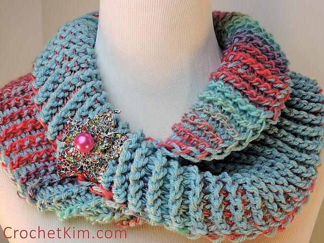 cuello bufanda | Crochet by El P | Pinterest | Tejido, Cuellos ...