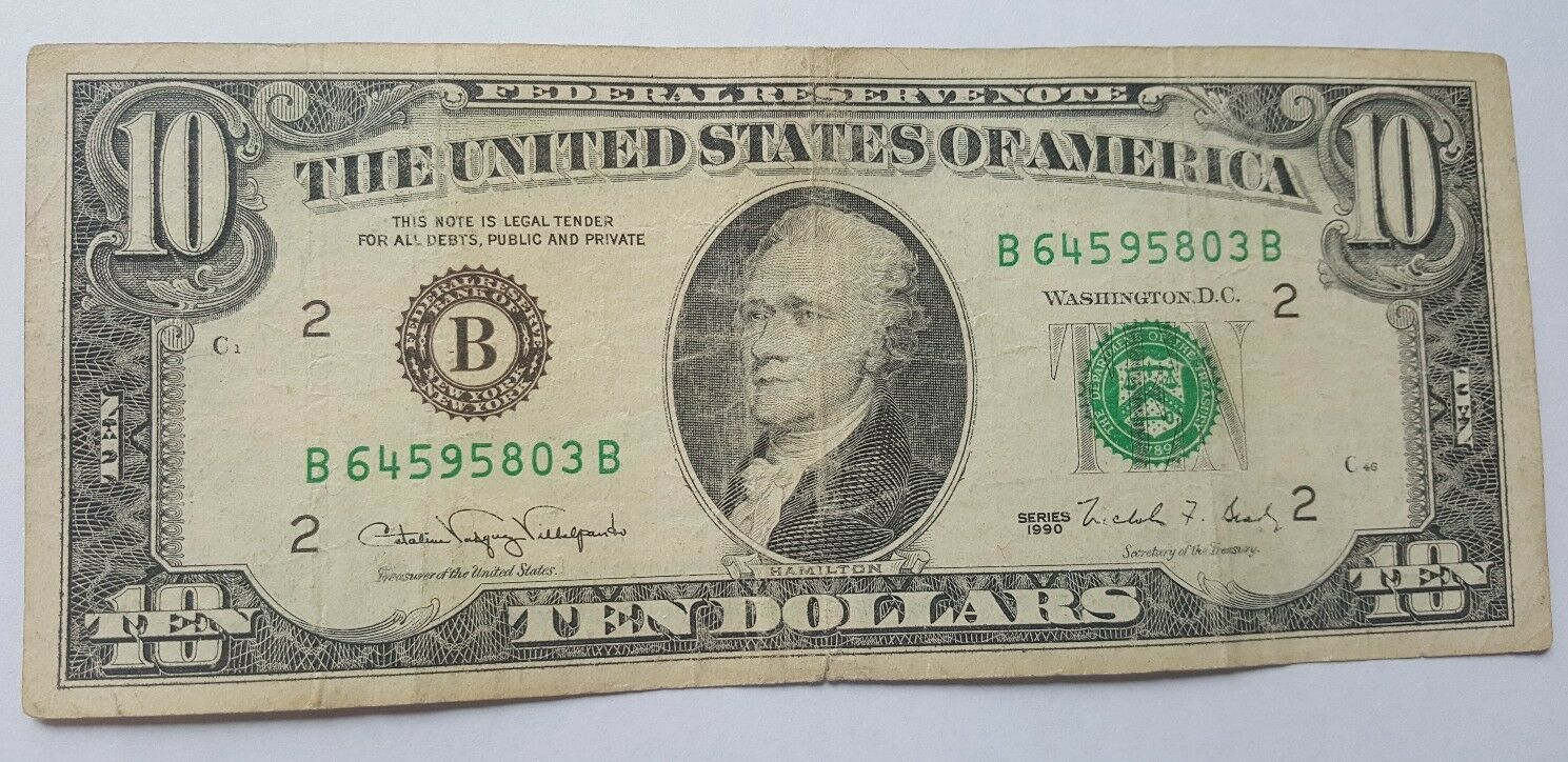 1969C $10 Federal Reserve Note UNC