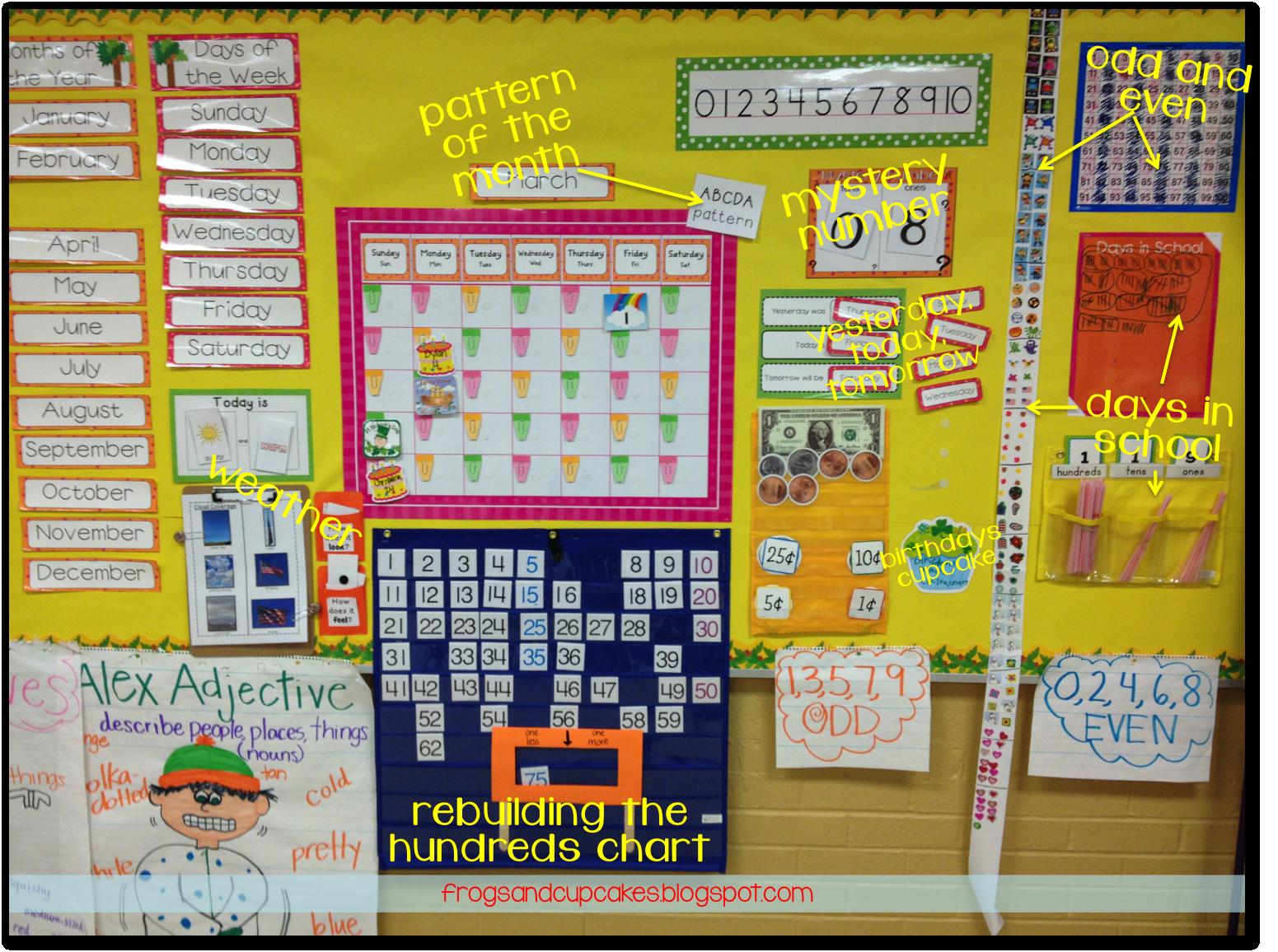 1st grade calendar math