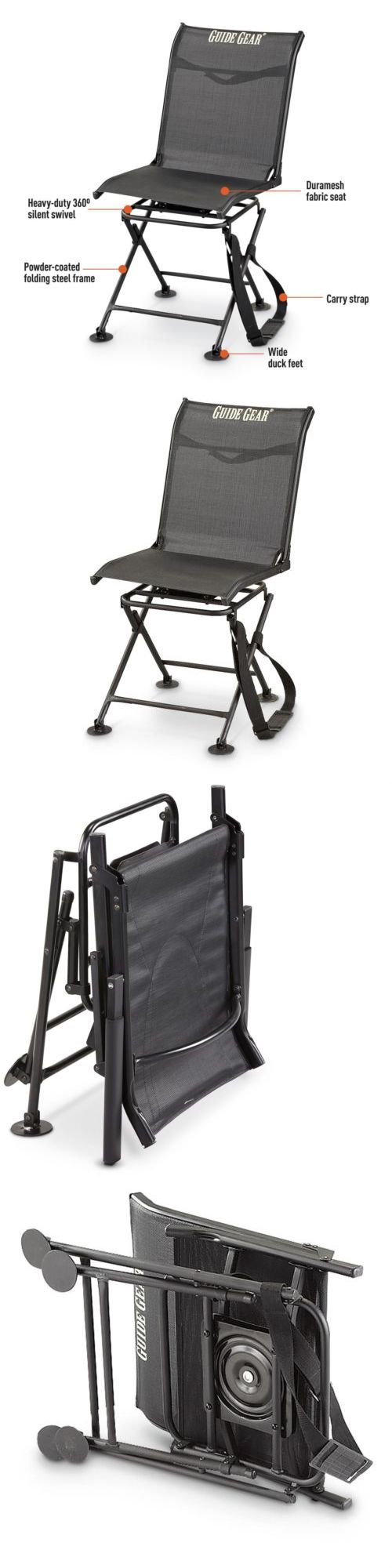 Bow hunting chair - Seats And Chairs 52507 360 Degree Swivel Hunting Blind Chair Folding Silent Heavy Duty Deer