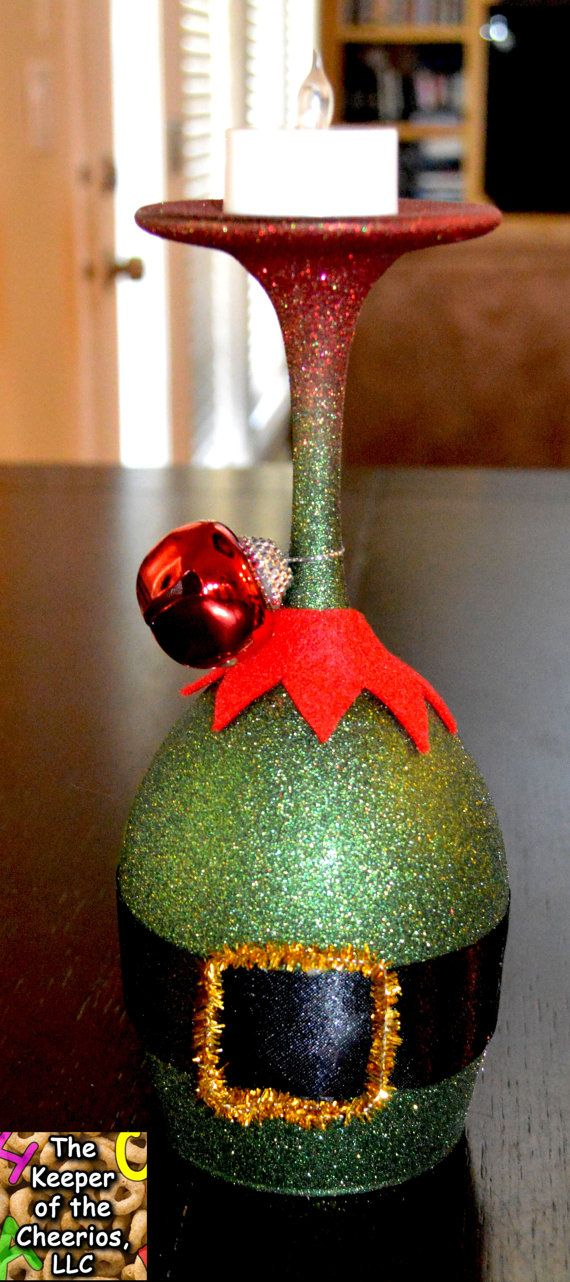 Elf Wine Glass Candle Holder By Thekeeperofcheerios On Etsy