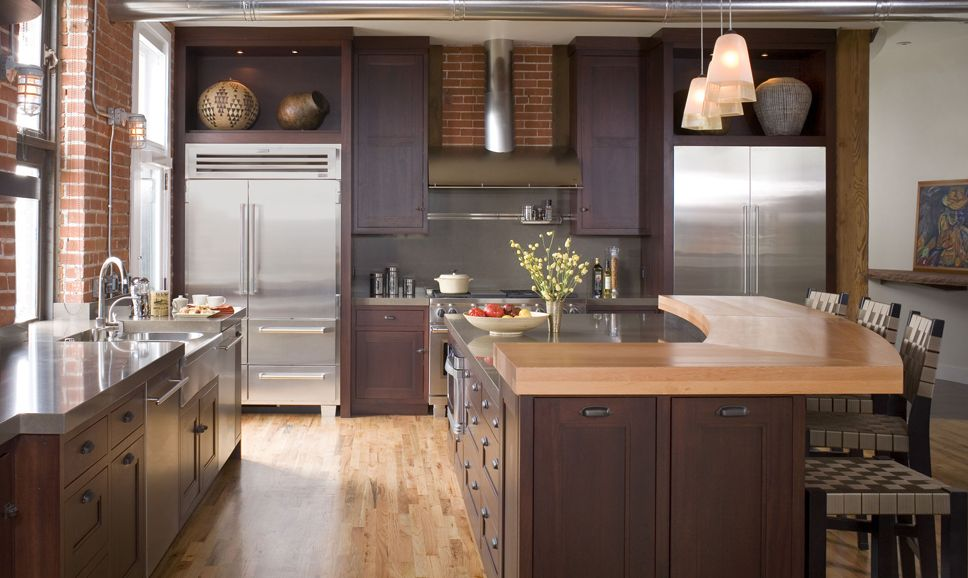 Functional Transitional Kitchen Design Burnt Kitchen design