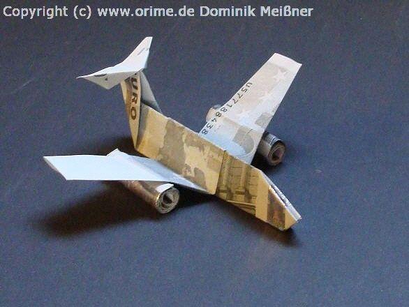 Geldschein Flugzeug Geldgeschenke Falten Origami Kunst Geld