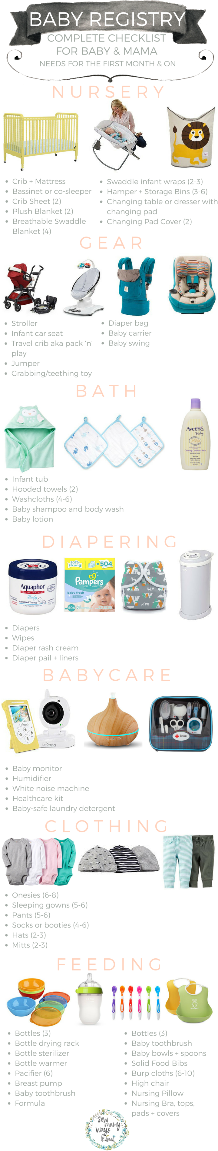 Baby Registry Checklist For The First Month And Beyond  Pregnancy