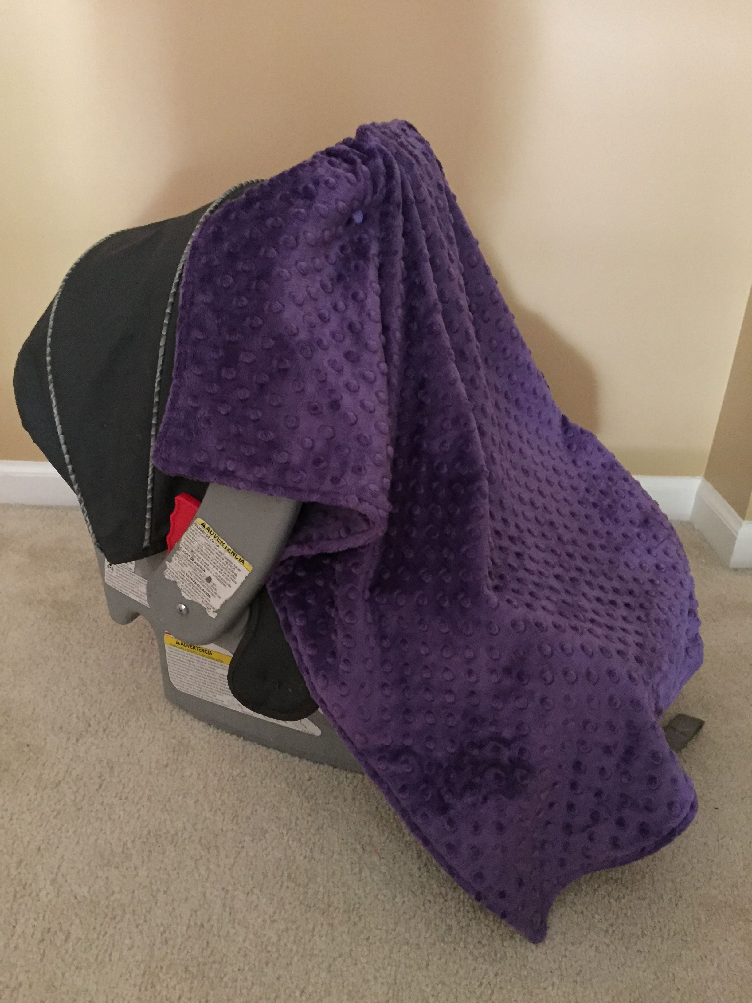 Perfect Purple minky stroller blanket, car seat blanket