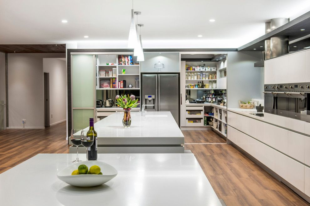Contemporary Kitchen Designers Custom Kitchen Corner Pantry Designs Kitchen Contemporary With Recessed Decorating Design