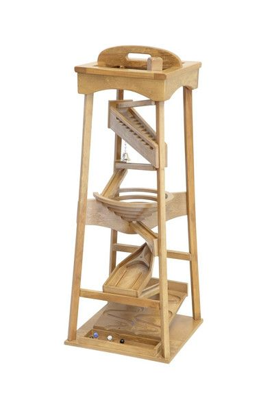 Amish Made Wooden Marble Pyramid Tower Run Toy Making