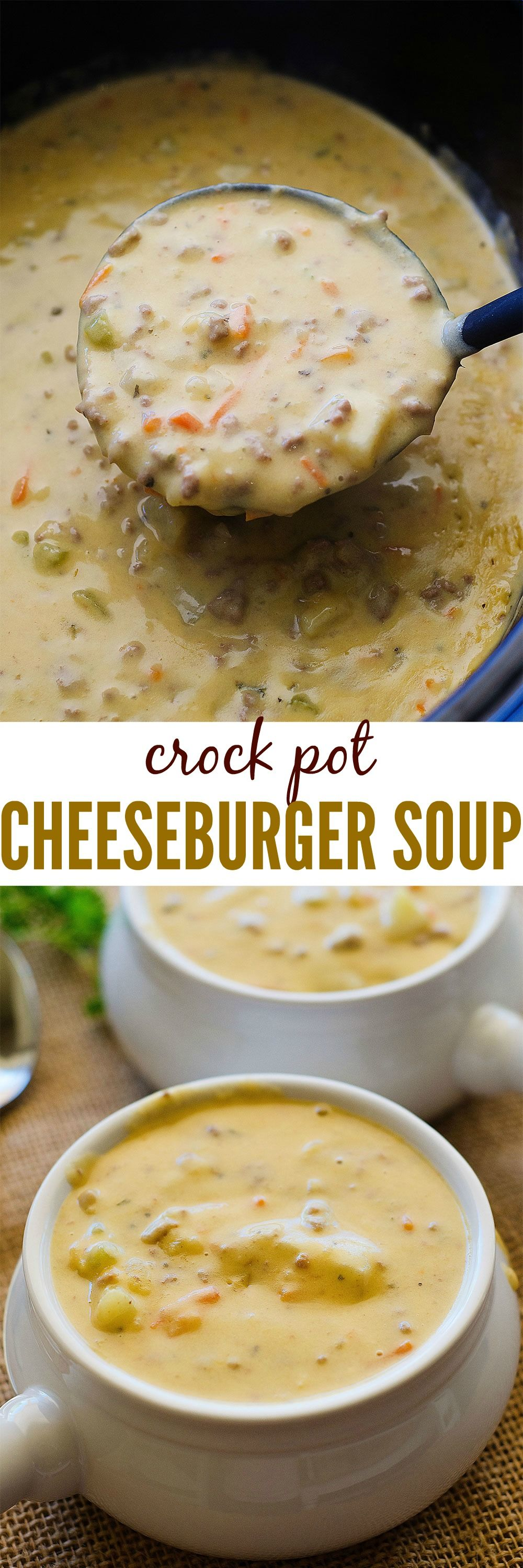 CrockPot_CheeseburgerSoup- for THM, use microwave cauliflower and nuke and purée in food processor before adding to soup.