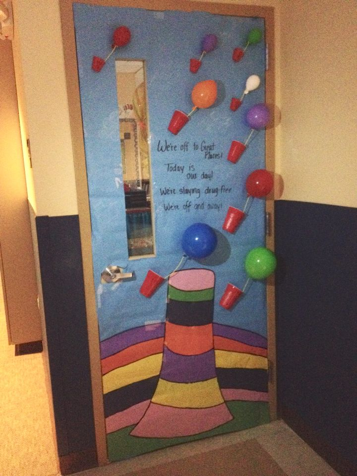Oh The Places Door For Red Ribbon Week Quot We Re Off To