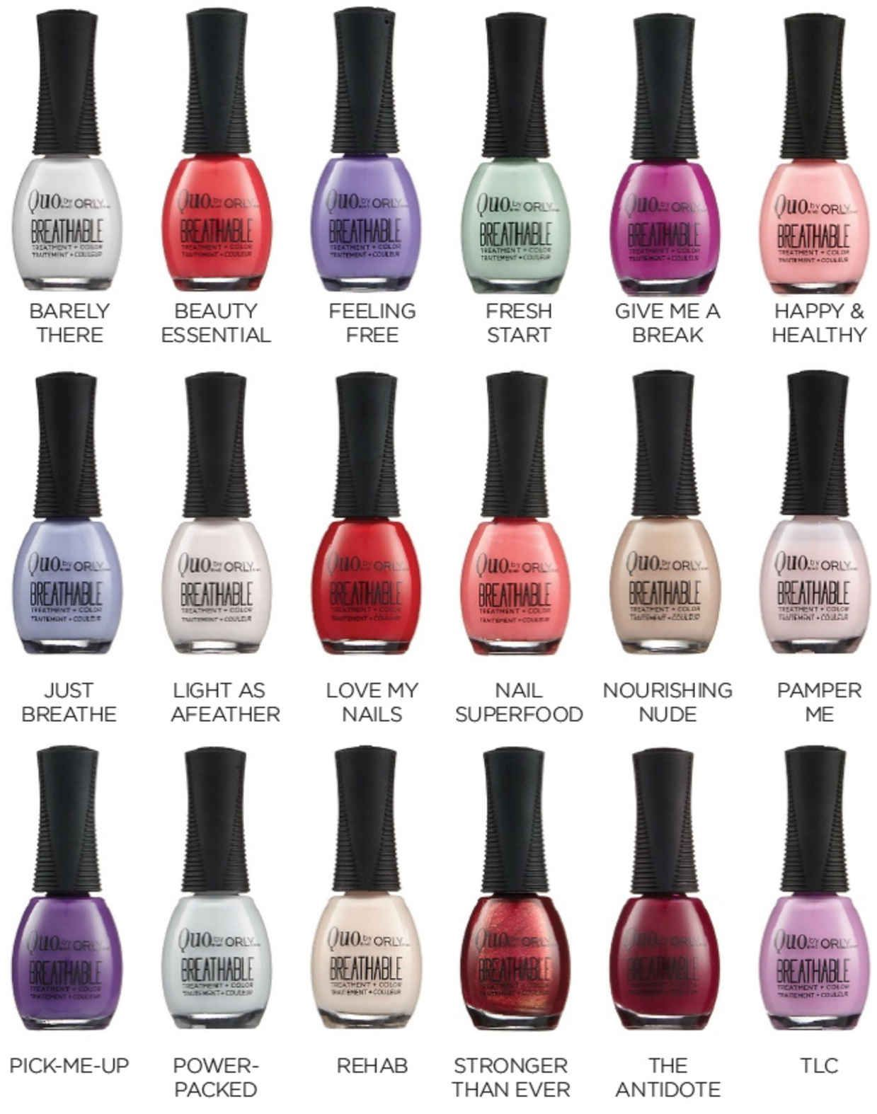 Quo By Orly Breathable Nail Polish Orly Breathable Halal Nail Polish Orly Nail Polish Colors