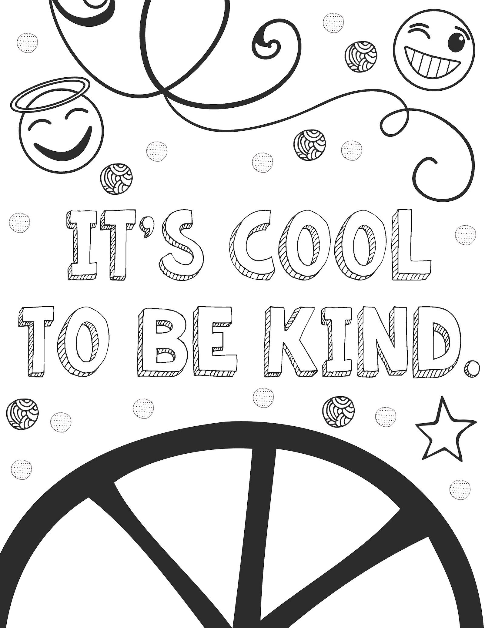 Kindness coloring pages free sample page art is basic an elementary art blog