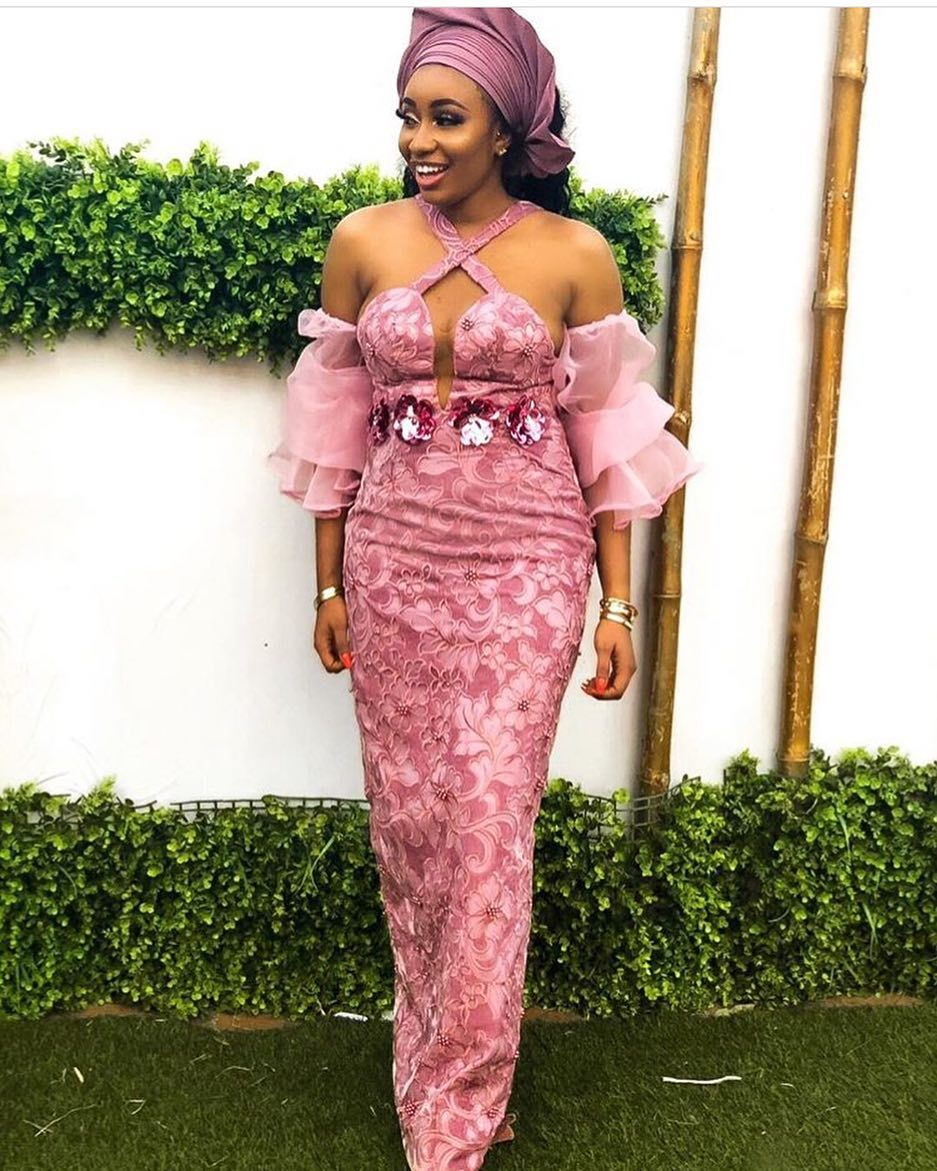 Ankara Collections On Instagram Bellanaijaweddings Ankaracollections Asoebibella Latest Lace Styles Lace Fashion Lace Dress Styles