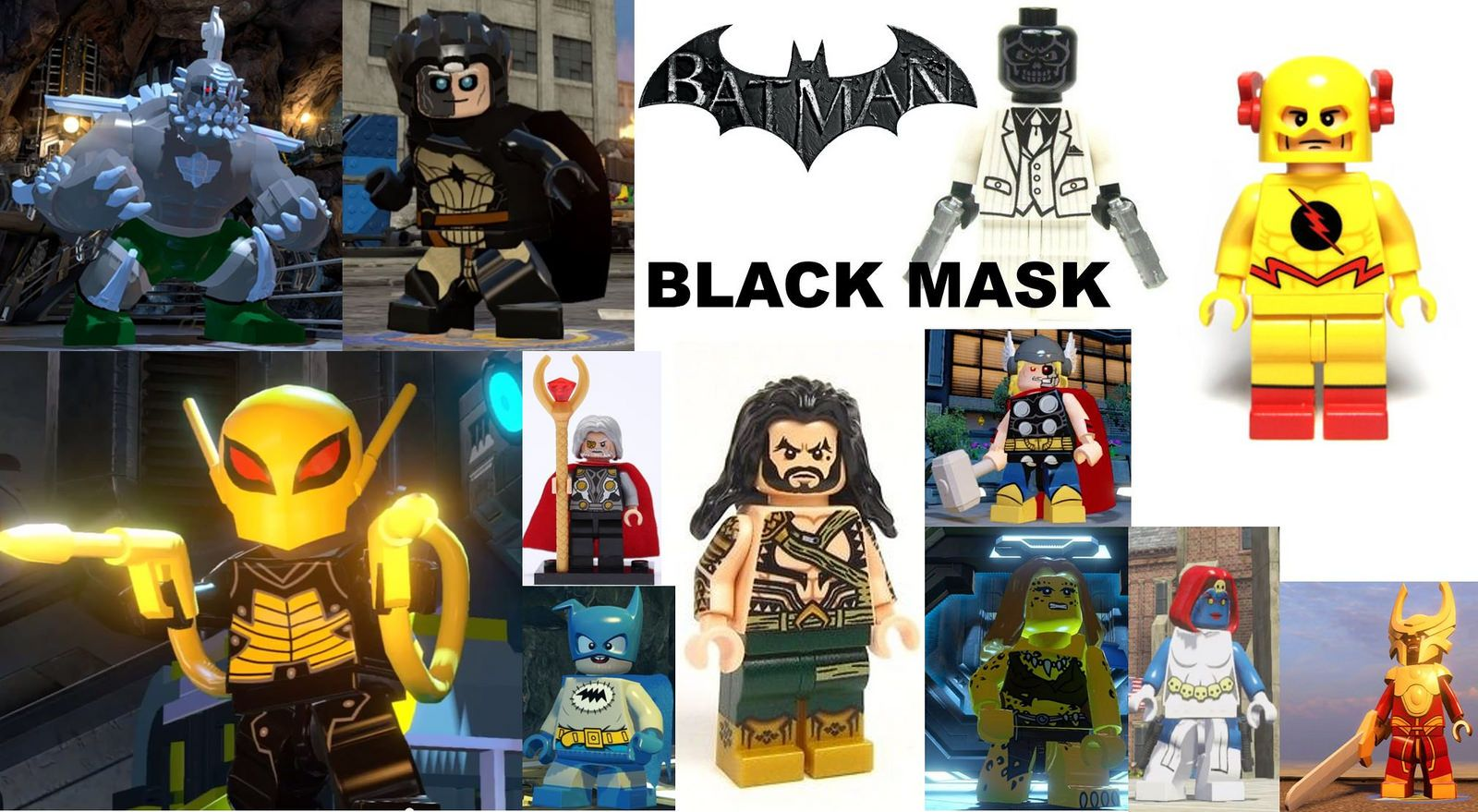 I want that LEGO do this ! Black mask, Marvel dc comics