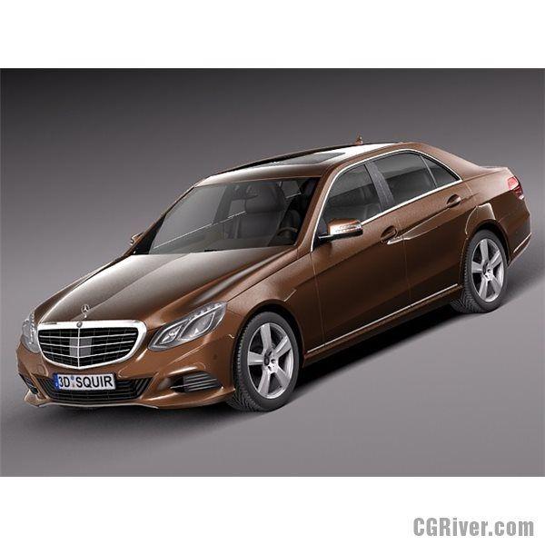 Mercedes E-Class Sedan 2014 - 3D Model