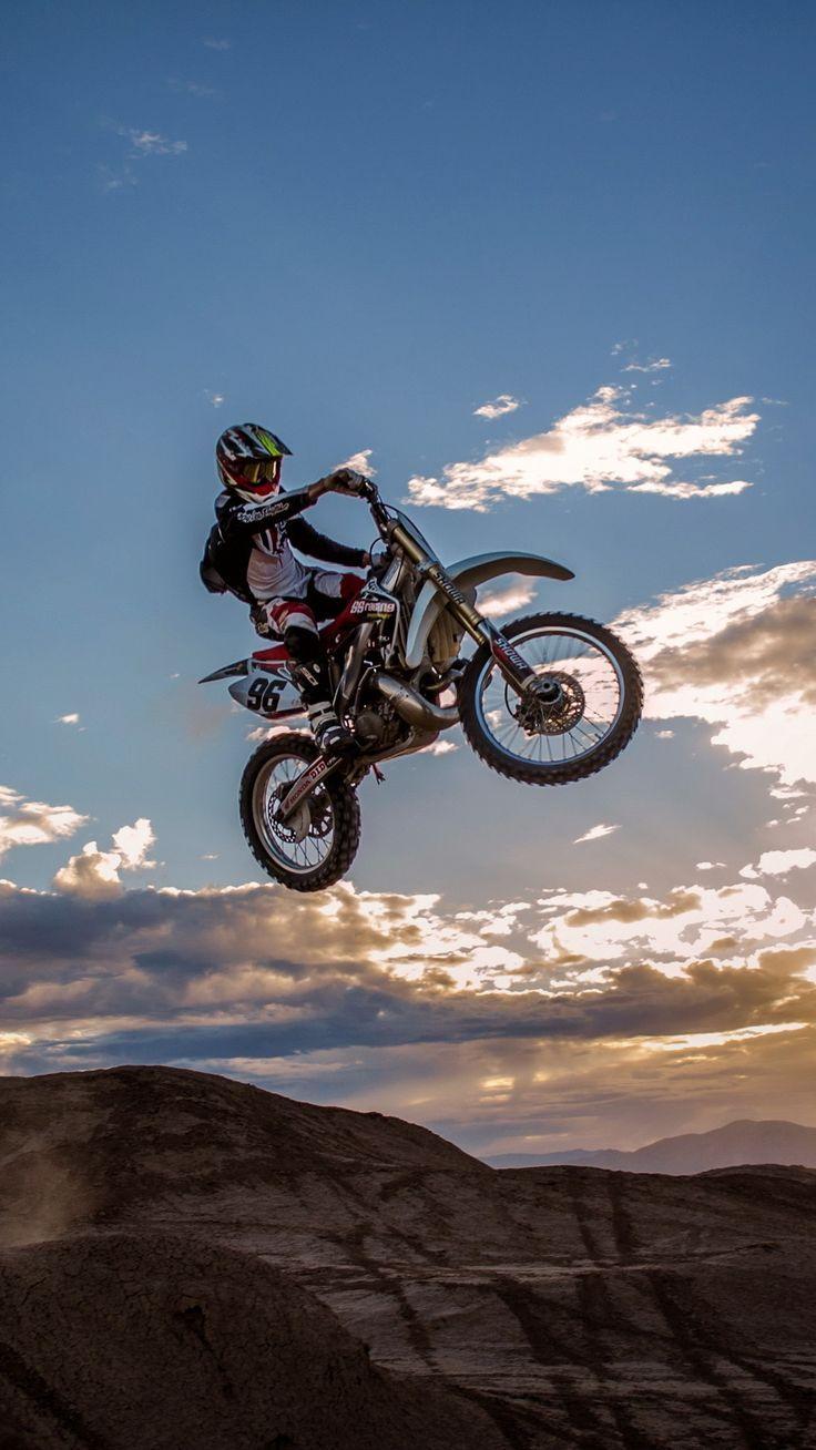 Big Jump Motocross Iphone Wallpaper Motorcycle Wallpaper Enduro Motocross Motocross Bikes