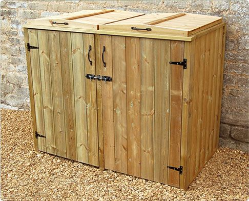 Wooden Wheelie Bin Storage Shed For 2 Bins Available In