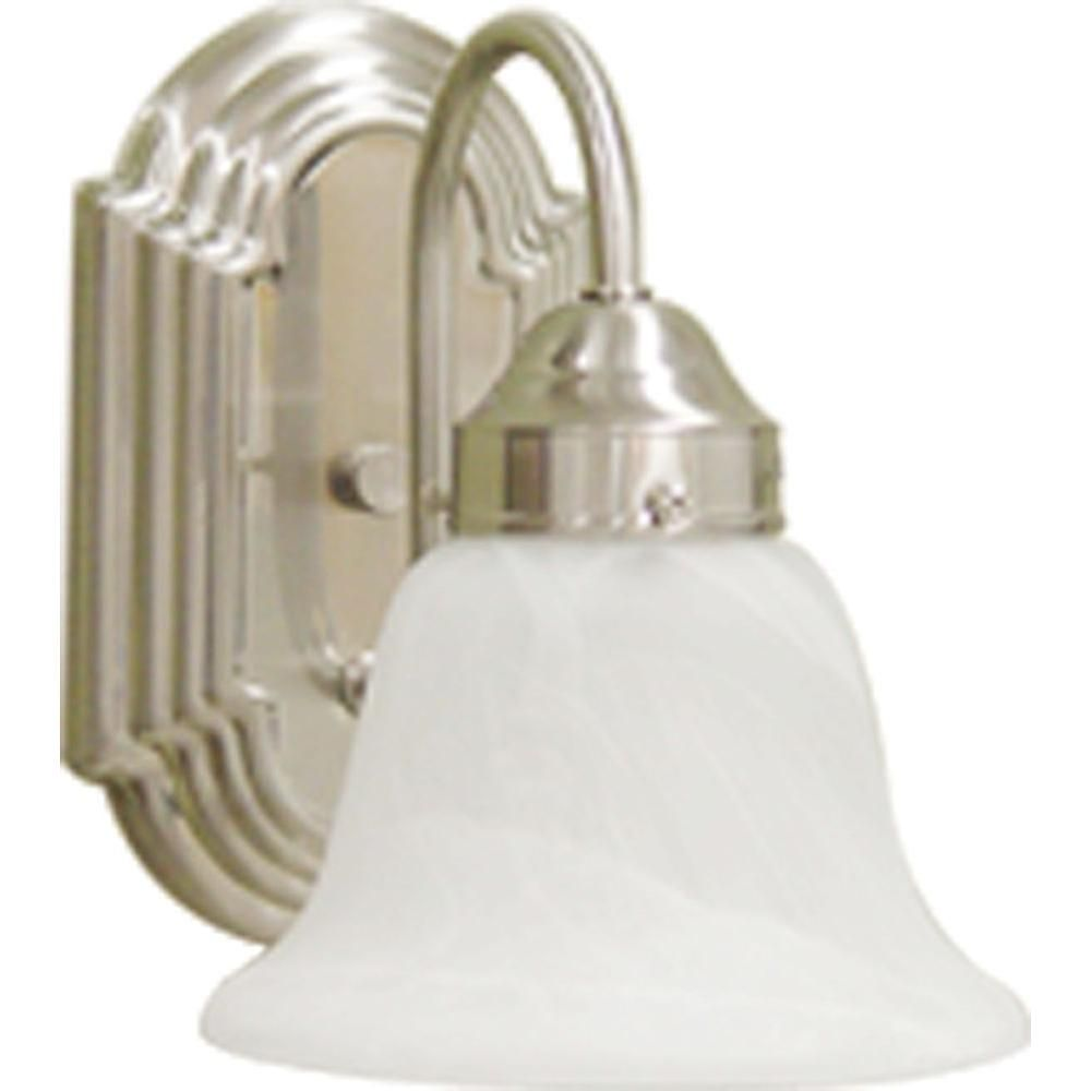 Volume Lighting 1 Light Brushed Nickel Wall Sconce V1341 33 Wall Sconces Sconces Bathroom Sconces