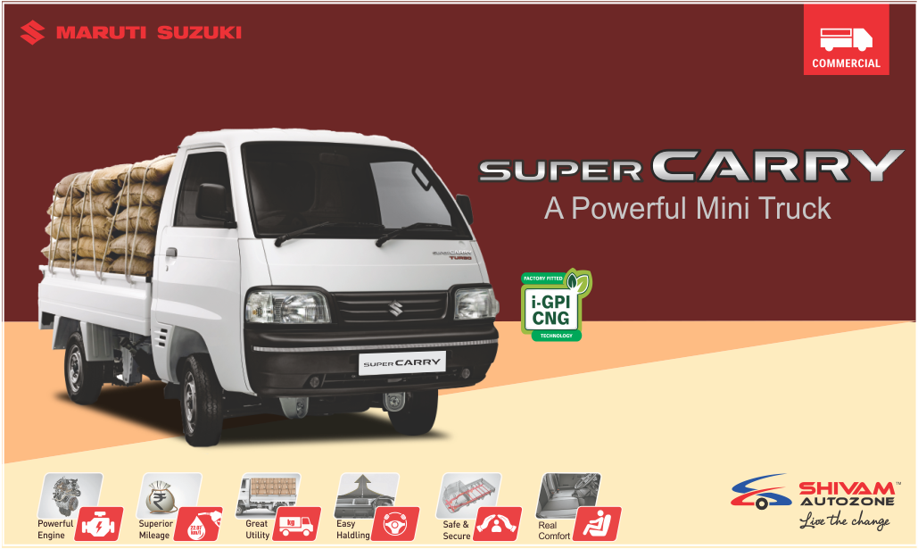 The New Maruti Suzuki Super Carry Truck In 2020 Suzuki Commercial Vehicle Mini Trucks