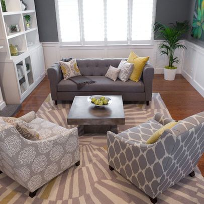 Grey Pinstripe Sofa Design Pictures Remodel Decor And