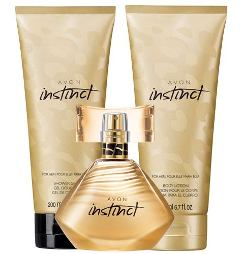 Avon Instinct for Her Eau de Parfum Spray, Body Lotion, & Shower Gel http://ericagerlemann.avonrepresentative.com/ #AvonInstinct #fragrance #bathandbody