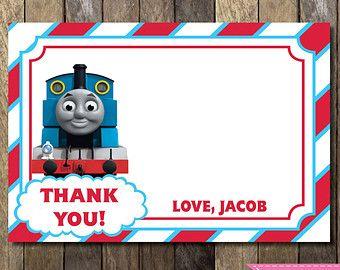 Printable Thomas The Train Blank Thank You Card Thomas The Train Birthday Cust Thomas The Train Birthday Party Thomas Train Birthday Trains Birthday Party