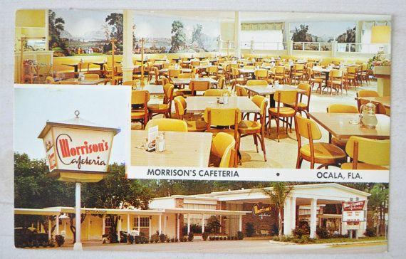1960s Vintage Postcard Morrisons Cafeteria Ocala Florida