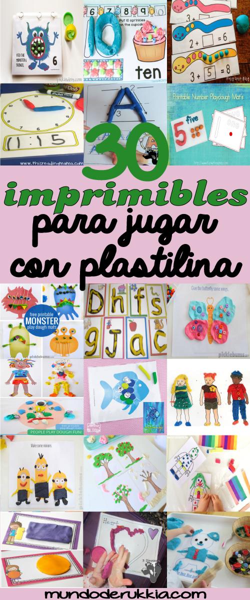 30 Plantillas Imprimibles para Jugar con Plastilina   Manualidades ...