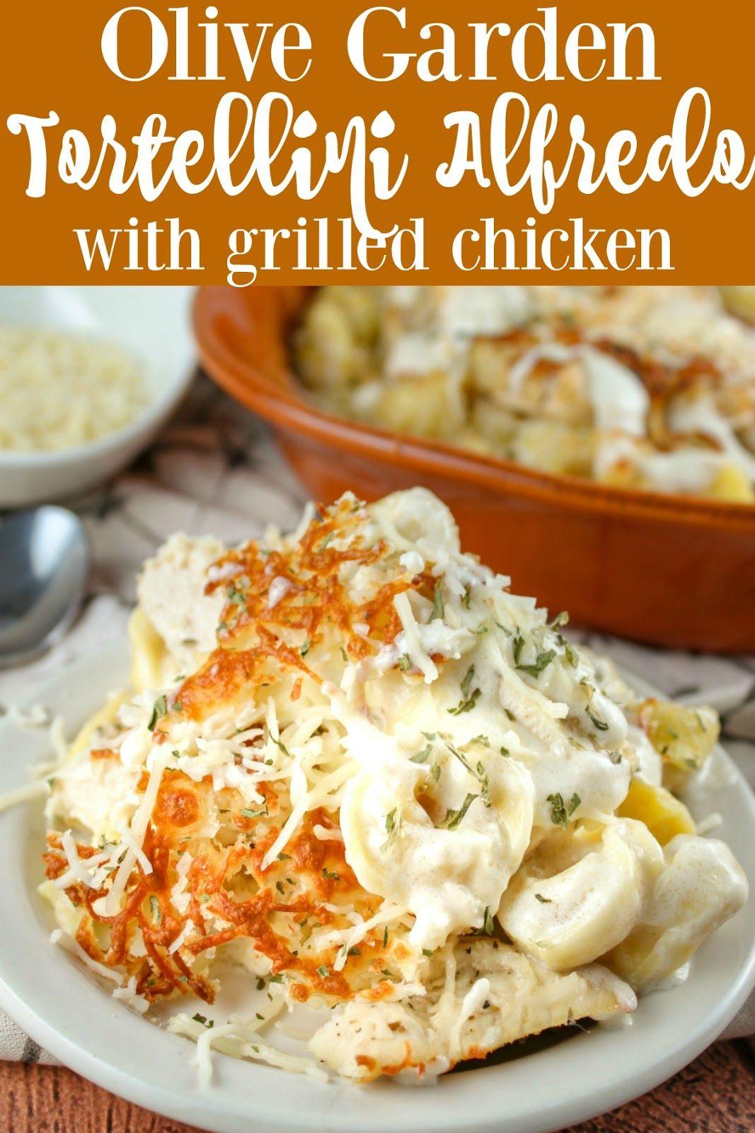 Copycat Olive Garden Oven Baked Tortellini Alfredo with ...