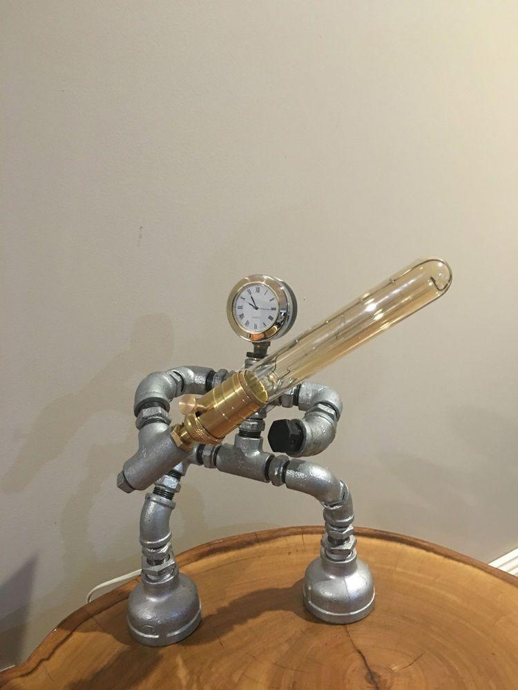 Steampunk Edison Light Robot Star Wars Pipe Desk Lamp