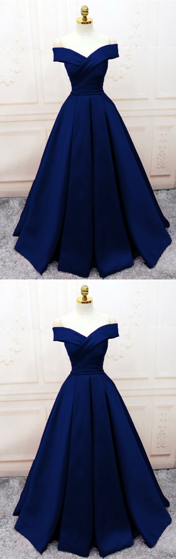 Simple vneck off shoulder prom dresses long evening gowns n