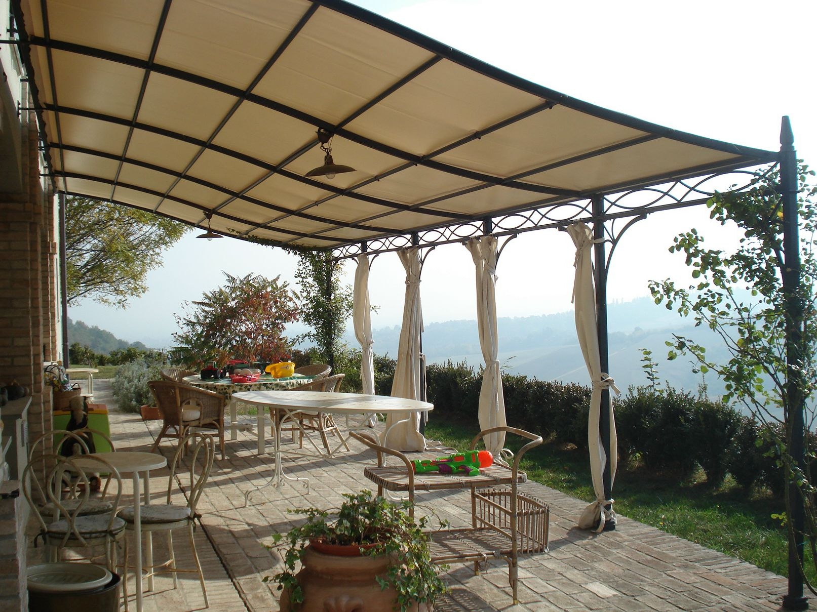 Discover All The Information About Product Wall Mounted Pergola Wrought Iron Fabric Canopy Custom MALATESTA