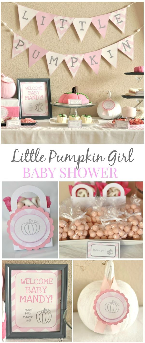 Hosting a baby shower and need some food ideas look no further since - Little Girl Pumpkin Baby Shower Party Ideas Fall Pumpkin Theme Without The Fall Colors