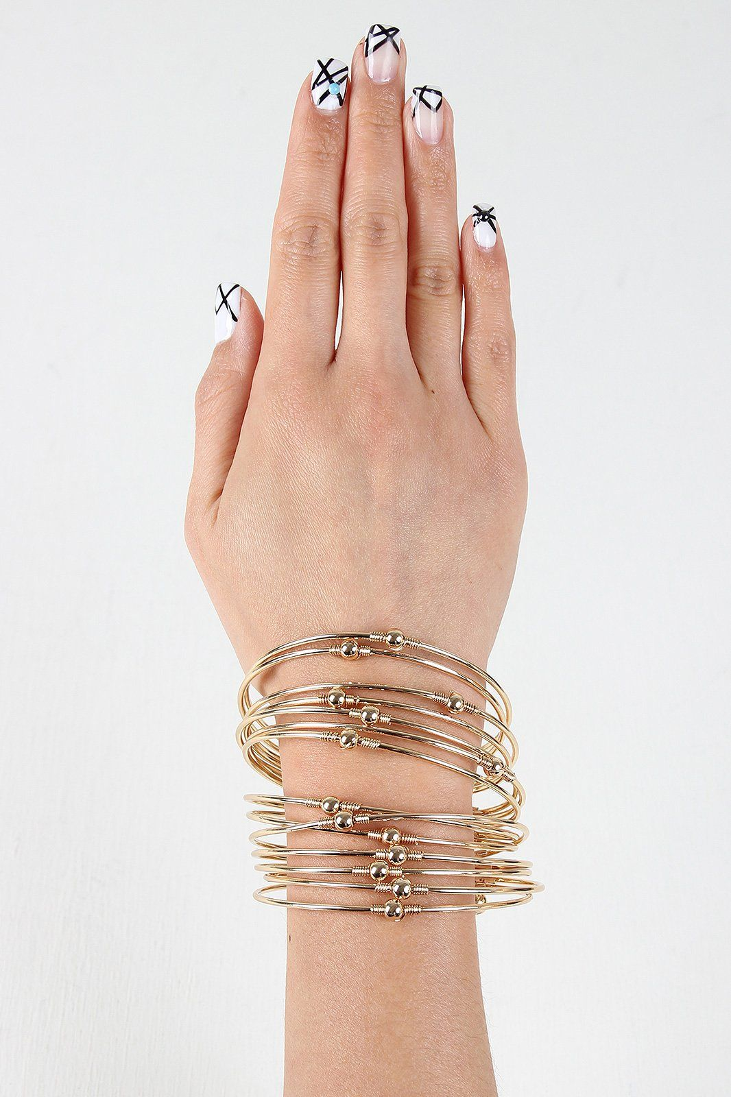 Stacked multi wire cuff bracelet products pinterest products
