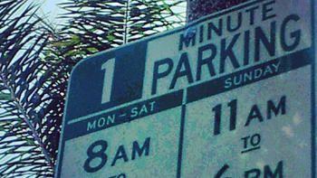 Parking sign typo