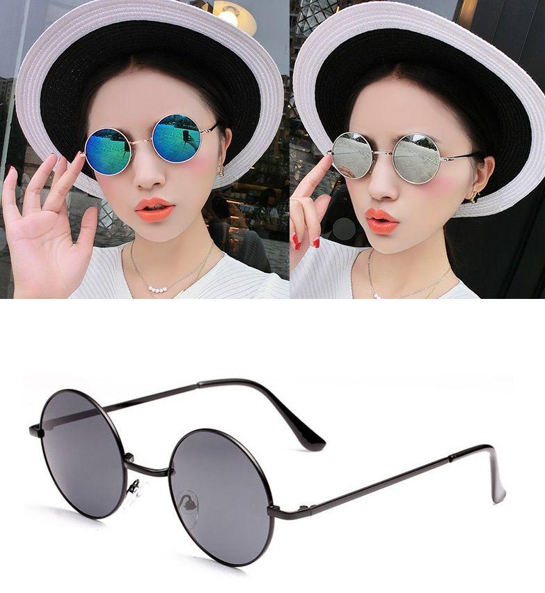 Hot Vintage lentes Redondas gafas de Sol de Los Hombres/de las ...