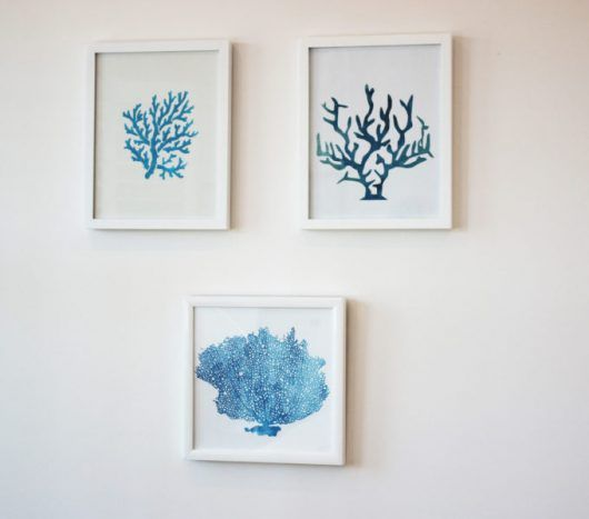 DIY Wall Art For A Bedroom Using The Coral Stencil From Cutting Edge  Stencils. Http