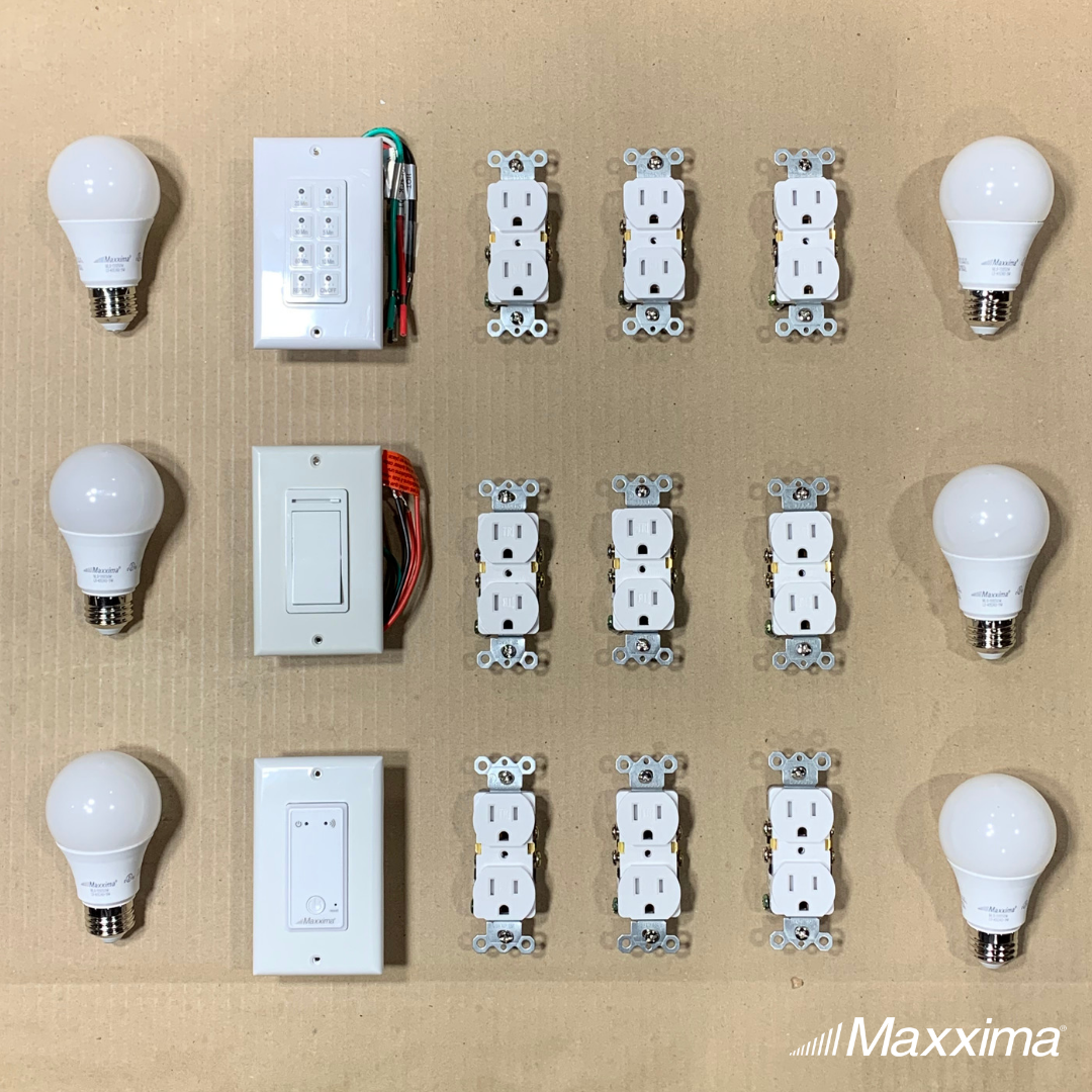 Deck Your House Out With These Outlets Switches And Bulbs Electric Utilities Lighting Led Maxxima Motion Lights Lights Timer Wall Outlets