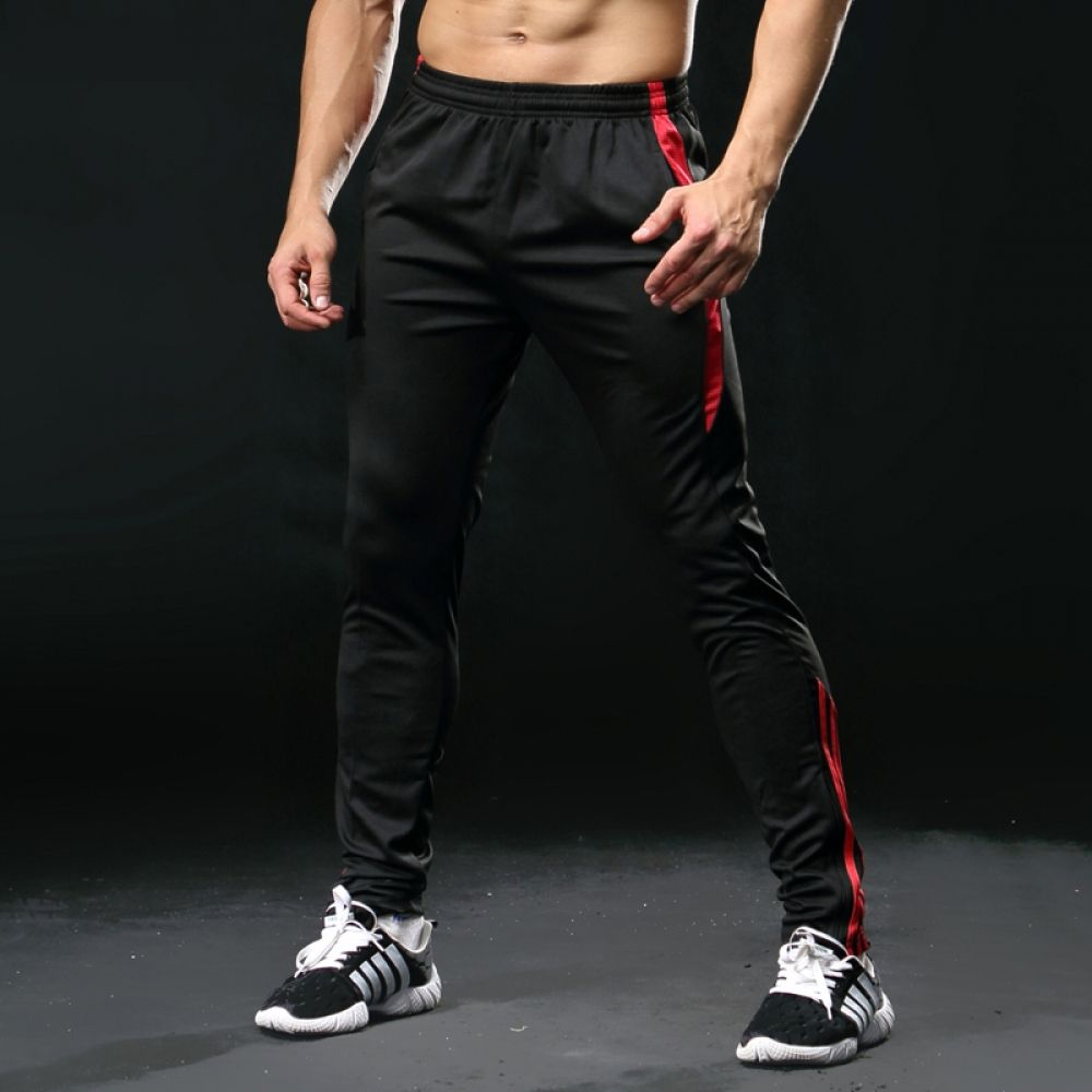 2018 Men/'s Sport Athletic Soccer Fitness Training Running Casual Pants Trousers