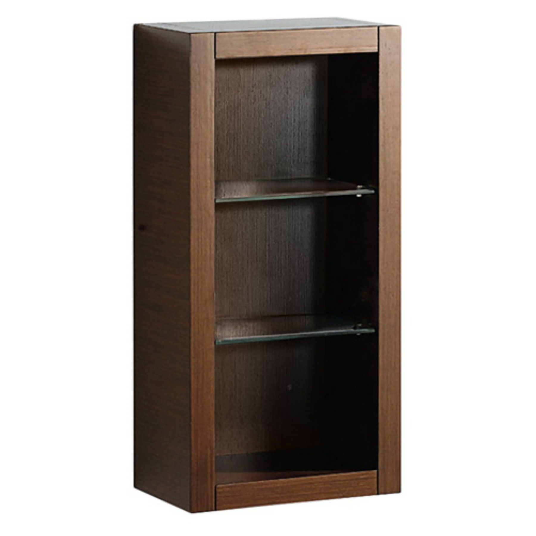 Fresca Bathroom Linen Side Cabinet with 2 Glass Shelves - FST8130GO