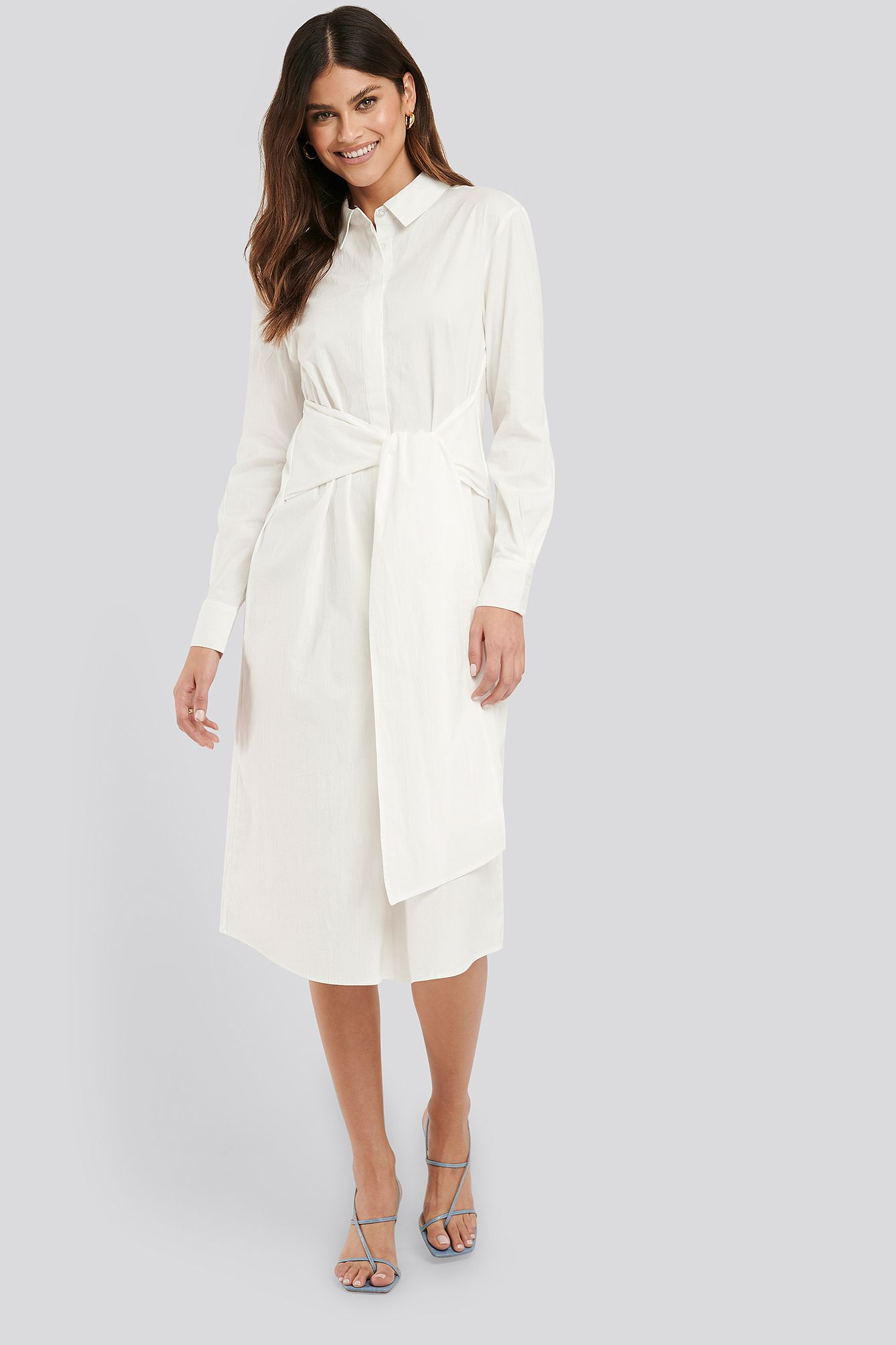Photo of Tie Front Shirt Dress