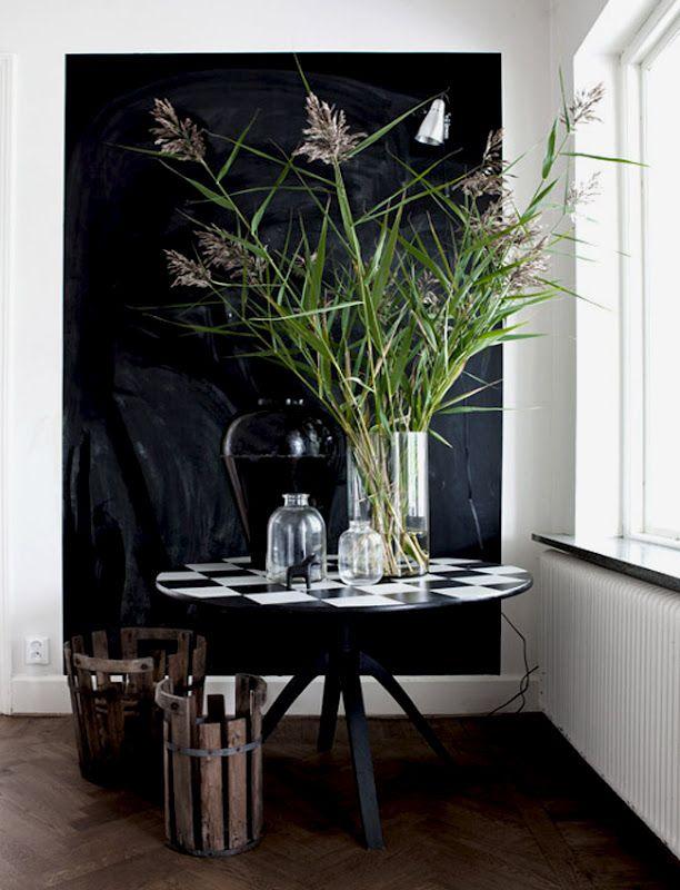 Weeds as decor.