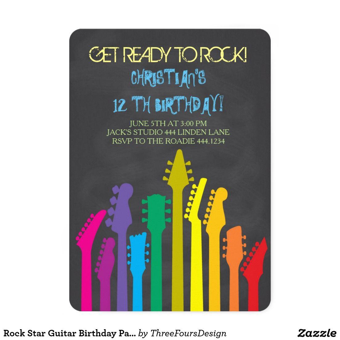 invite wording   Rock Star Party   Pinterest   Rock, Birthdays and ...